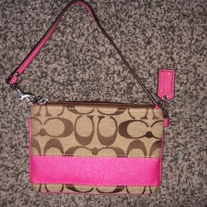 coach wristlet coin purse